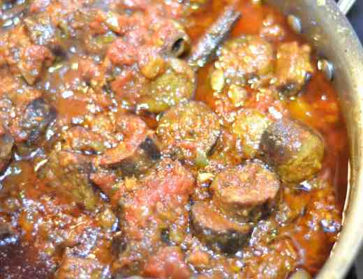 Curried Italian Sausages using Johnsonville Naturals