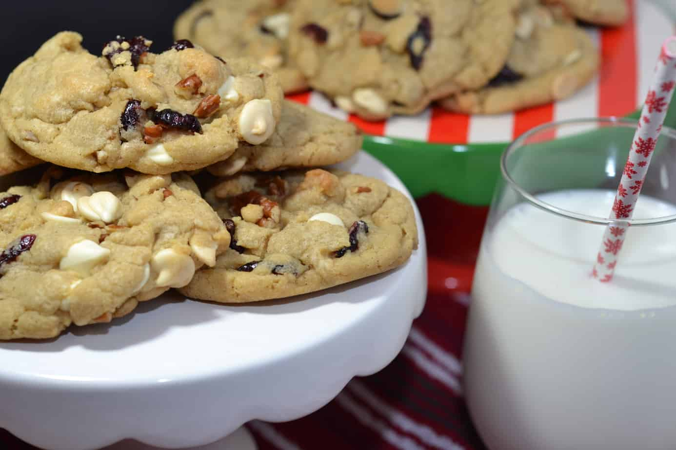 Nutty White Chocolate Cranberry Cookies