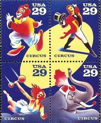 1993 USPS Circus Stamp