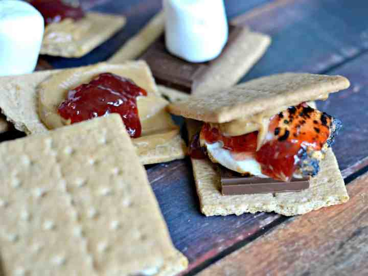 Peanut Butter and Jelly S'mores