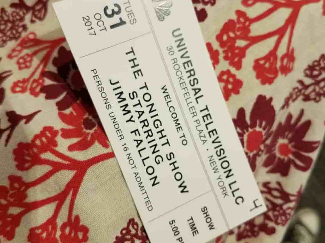 Jimmy Fallon Taping Ticket