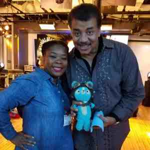 Natasha Nicholes and Neil deGrasse Tyson at Kelly Clarkson's Meaning of Life Event