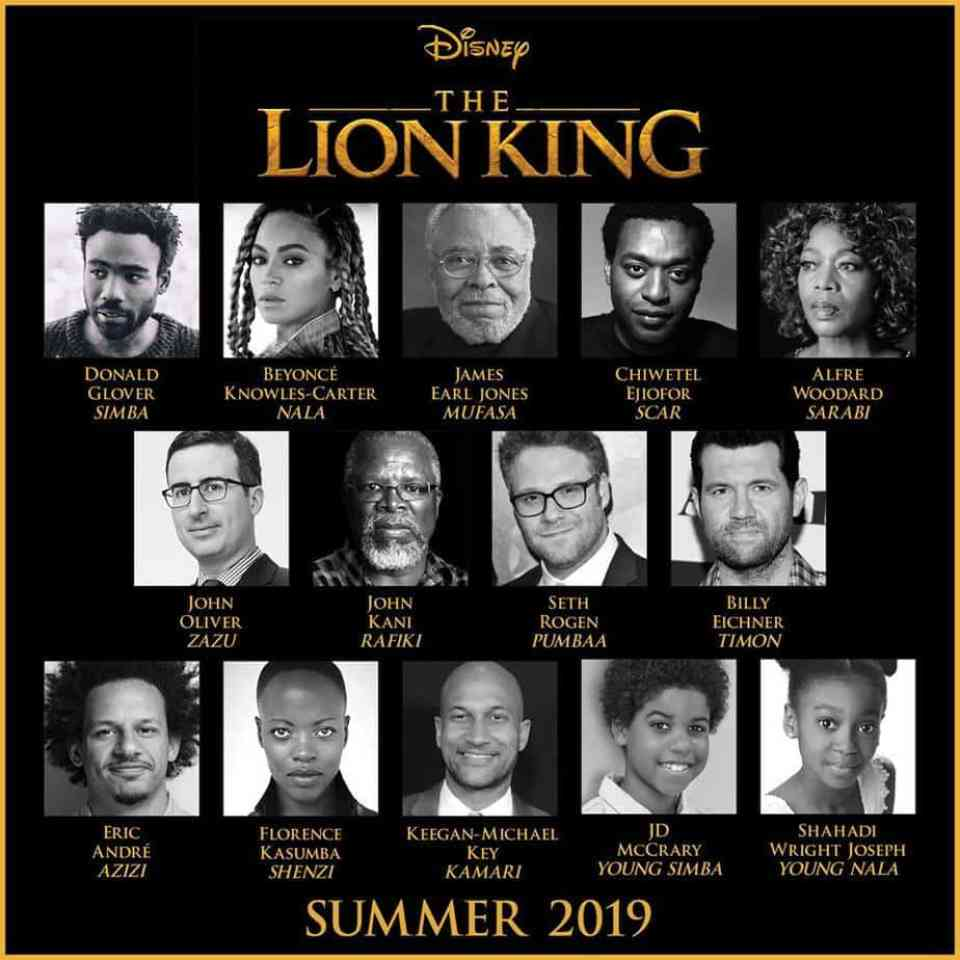 The Lion King Live Cast