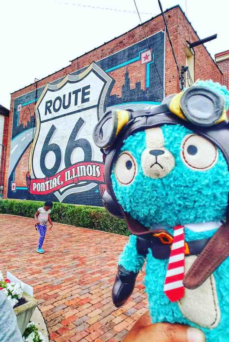 Traveling Route 66 - Pontiac, IL #trippinwithfamily