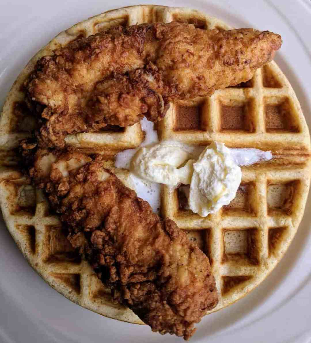 Chicken and Waffles from Coffee Makes You Black