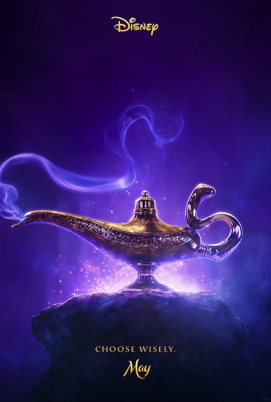 Disney's Aladdin will be appearing in theaters May 24, 2019. With Will Smith and Mena Massoud in title roles, it's sure to be a family hit!