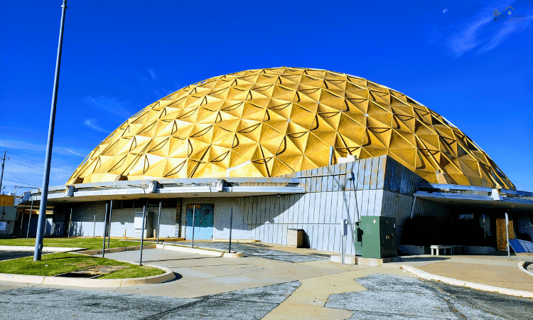 The Gold Dome, a geodesic dome in Oklahoma City, Oklahoma, is a landmark on Route 66. It was built in 1958 and is located at the intersection of NW 23rd Street and North Classen Boulevard.