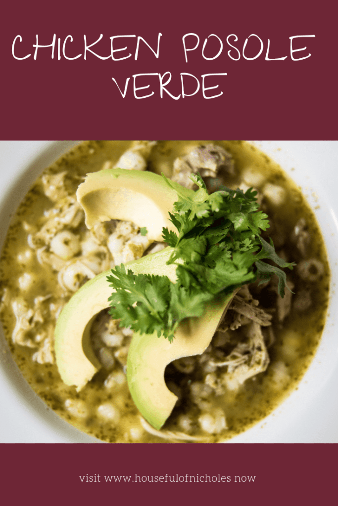 Chicken Posole Verde is comfort food that you'll want all of the cold season. With simple yet affordable ingredients, you might just make it weekly. The best thing about it though? Everyone can top it the way they see fit and make it TRULY their own masterpiece.