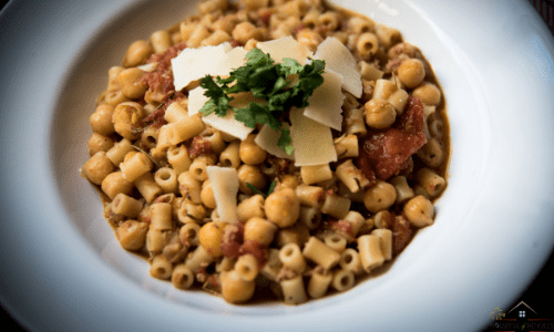 Pasta e Ceci - Pasta with Chickpeas and simple but sublime Italian meal