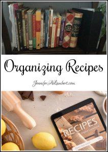 Homestead Blog Hop Feature-Organizing Recipes