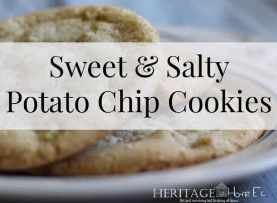 Homestead Blog Hop Feature - Sweet and Salty Potato Chip Cookies