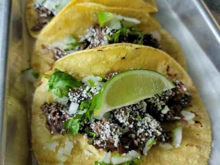 Beef Cheek Barbacoa Tacos
