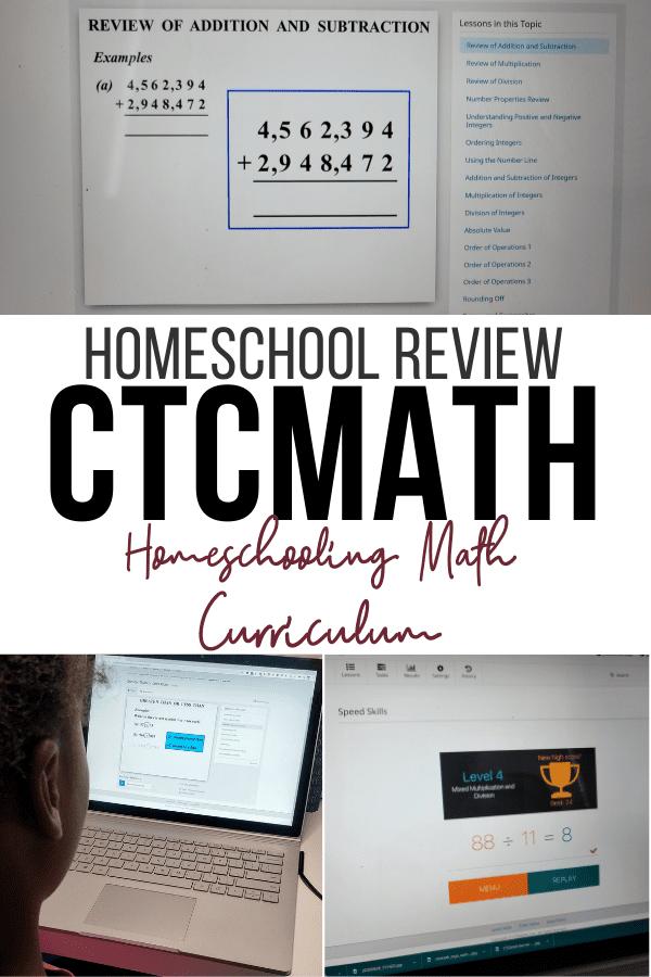CTCMath Curriculum Review