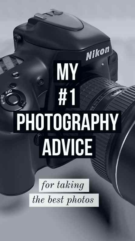 photography advice from a pro