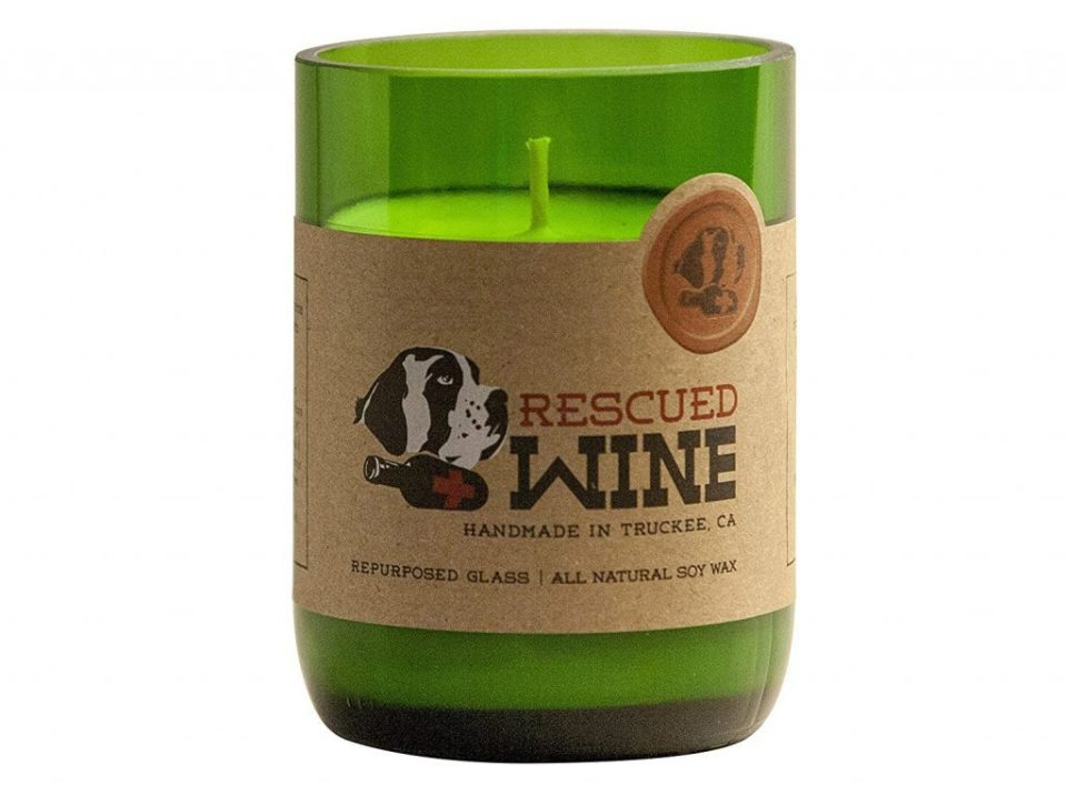 rescued wine candles