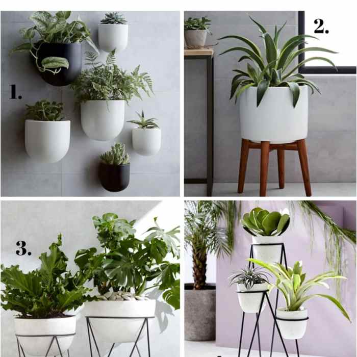 modern west elm planters white