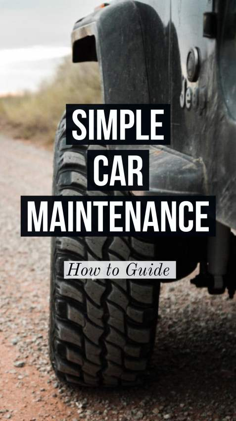simple car maintenance guide