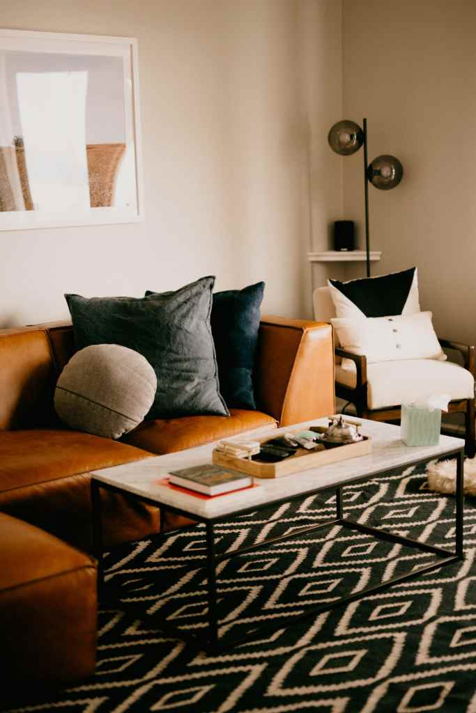 west elm leather couch