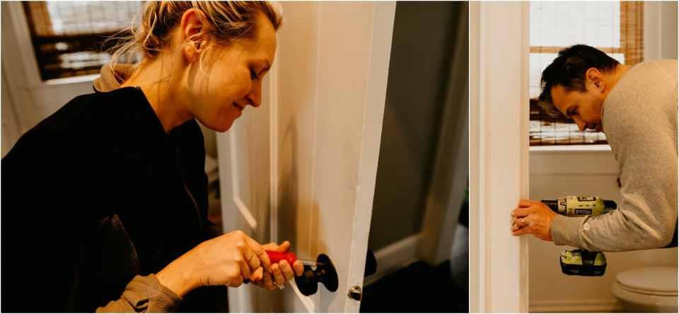 matte black doorknobs