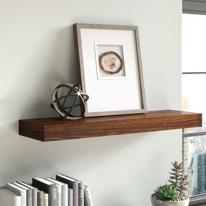 floating wooden shelf