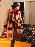 A Tom Baker fan struts his stuff.