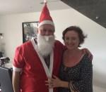 DD as a bedraggled Santa. Isn't he cuuuuute!