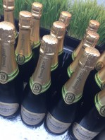 There was LOTS of French champagne.