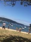 Games on beautiful Balmoral Beach.