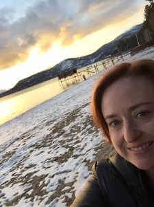 Sunset selfie on the beach at Incline Village. I really need some Botox on those lines ...