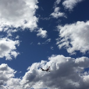 The gorgeous sky outside IKEA.