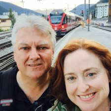 Our arrival in Davos, Switzerland.
