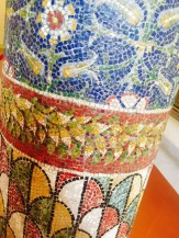 A mosaic pillar from Pompeii.