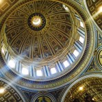 St Peter's Basilica, dome by Michaelangelo.