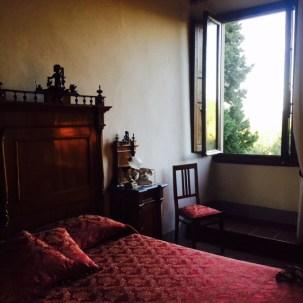 Our room at Villa Campestri.