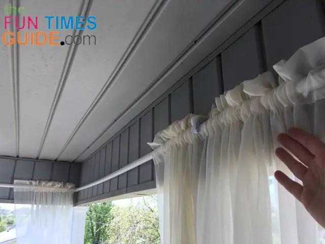 pvc pipe curtain rod