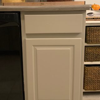 cut off tapered edges of cabinets for an updated look