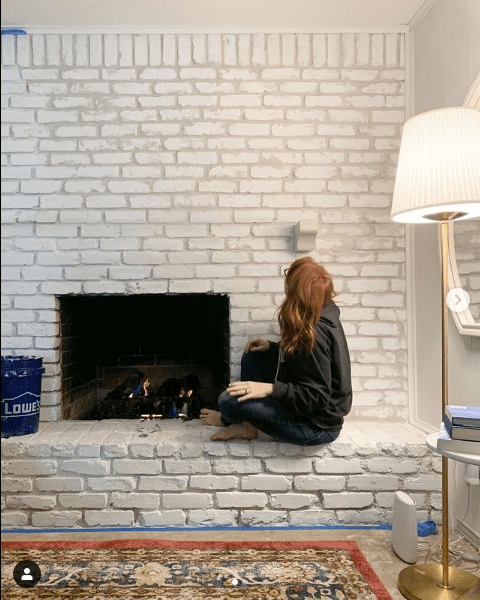 overgrouted fireplace drying