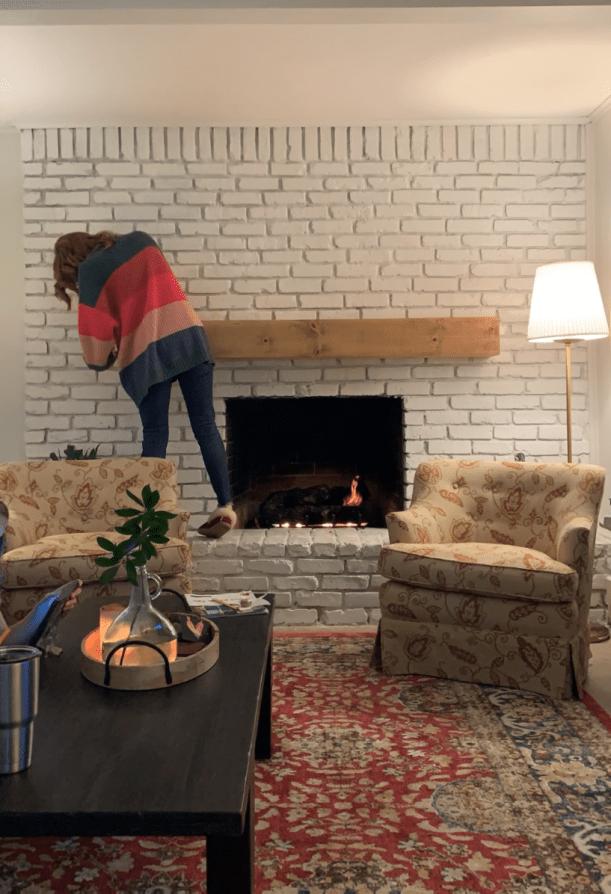 removing fireplace mantel