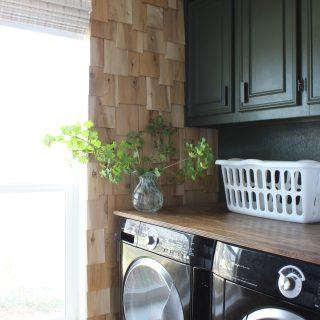 cedar shingles in laundry