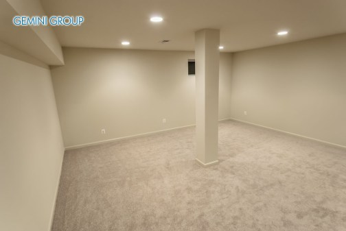 The interior of a sprawling basement rebuild.