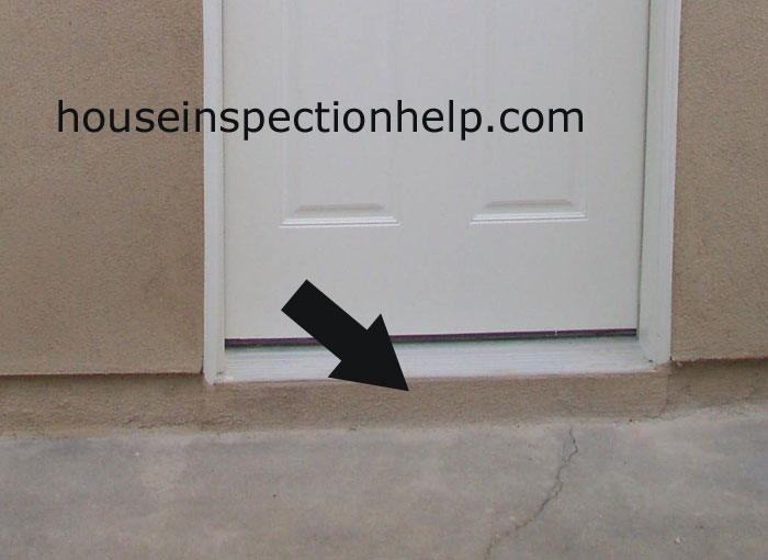 Cement Under Door Threshold