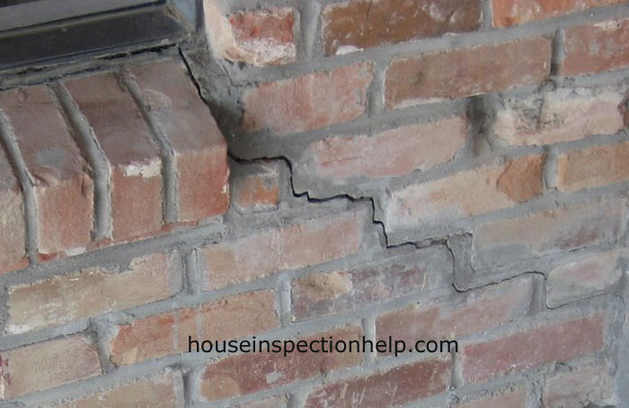 Window Corner Crack In Brick Wall