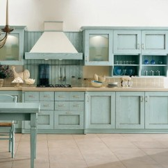 Kitchen Cabinets Color Island Countertop Ideas Colored Aqua Image