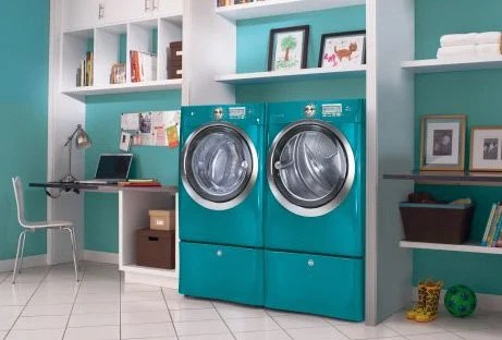 colored kitchen appliances memory foam mat and laundry aqua electrolux washer dryer