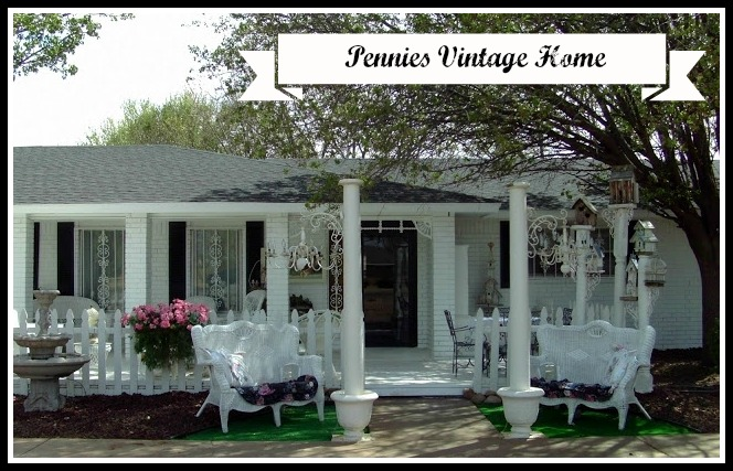 Painted Brick Exterior And A Shabby Cottage Chic Trailer