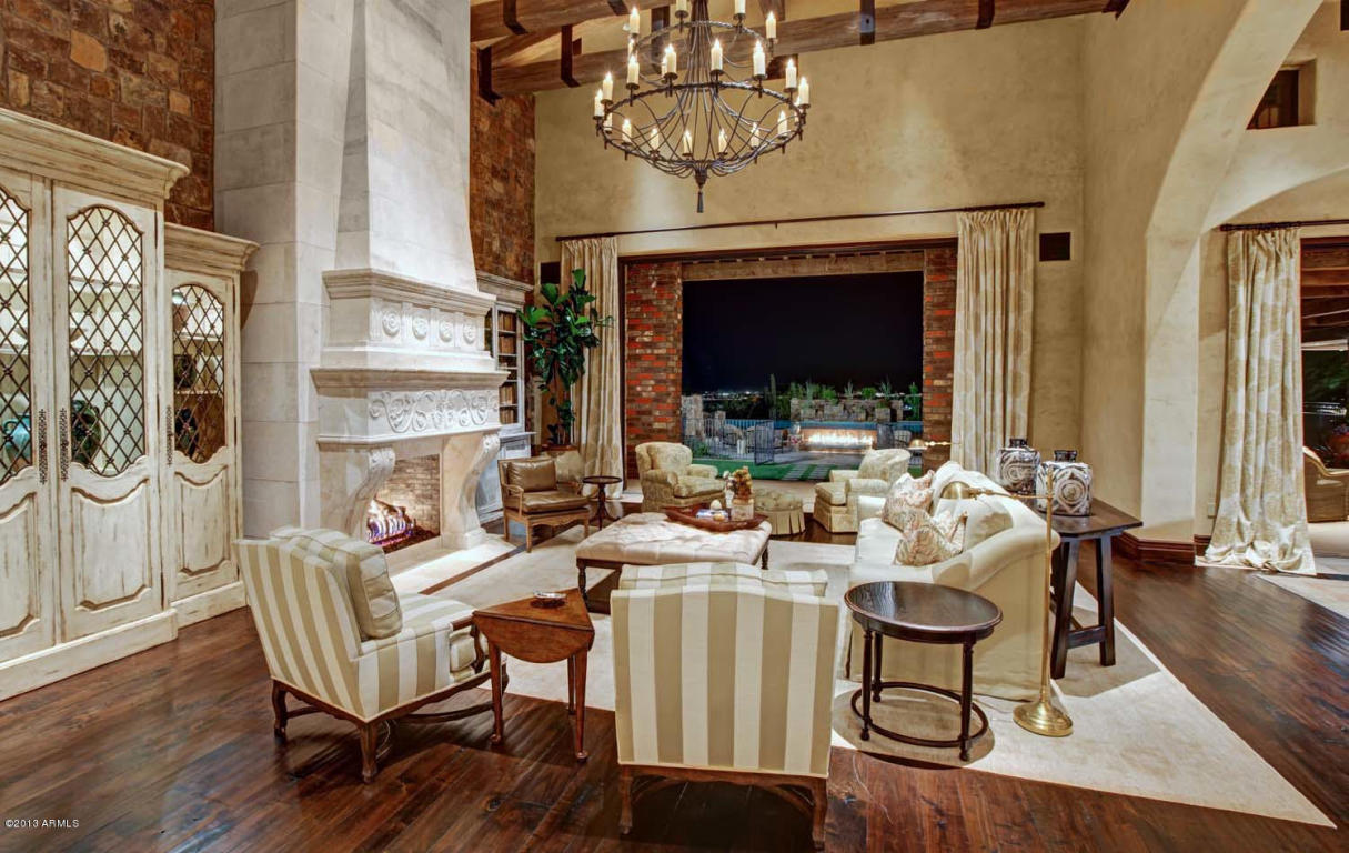 gold kitchen appliances white million dollar home in scottsdale arizona is $24,500,000