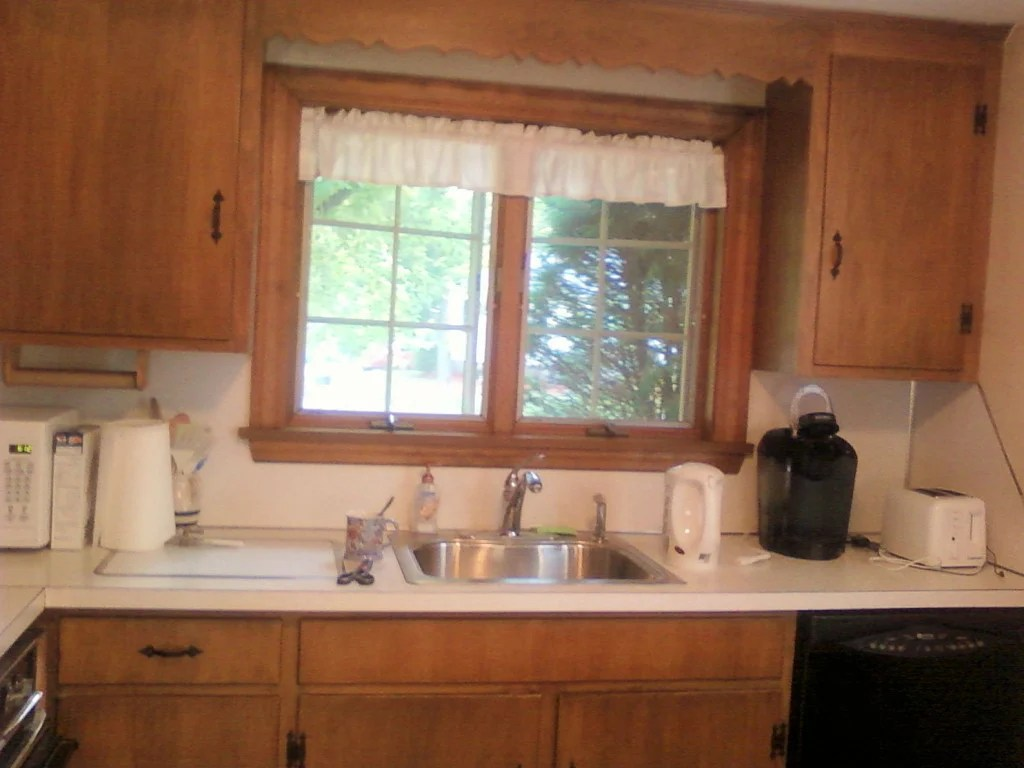 diy kitchen cabinet refacing gray floor cape cod home tour with a wife in progress