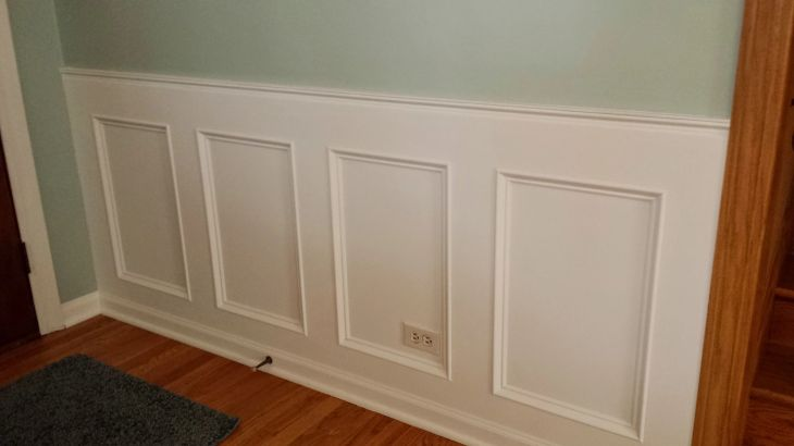 Diy recessed wainscoting wall desktop how to ideas of ideas for the office computer hd make a from scratch
