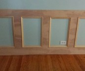 how to create wainscoting with moulding
