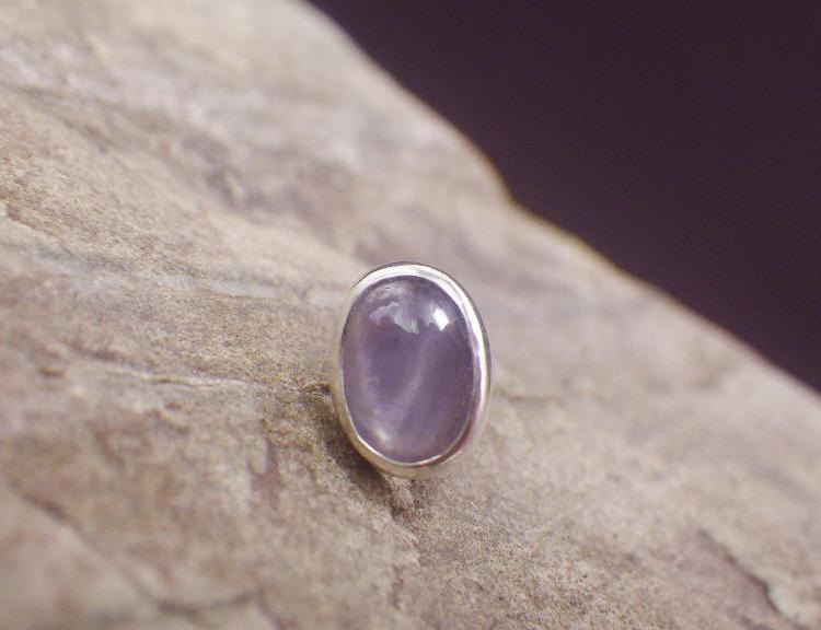 Star Sapphire x Silver pierce (sp-2)_5